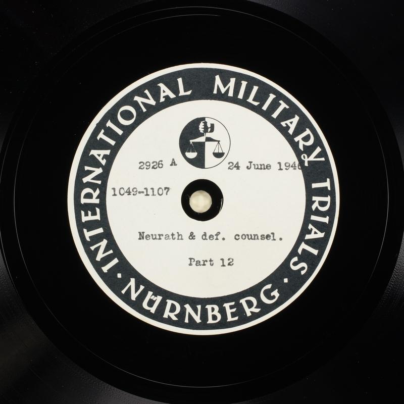 Day 162 International Military Tribunal, Nuremberg (Set A)
