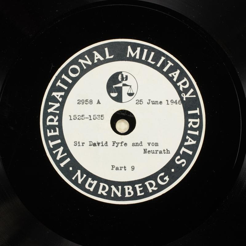 Day 163 International Military Tribunal, Nuremberg (Set A)