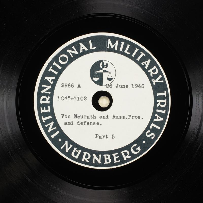 Day 164 International Military Tribunal, Nuremberg (Set A)