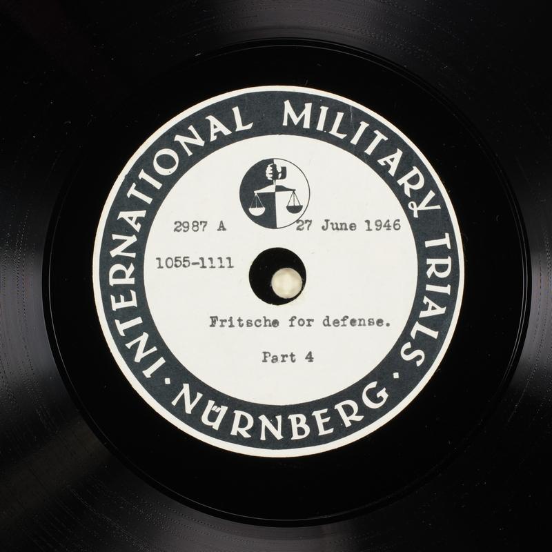 Day 165 International Military Tribunal, Nuremberg (Set A)