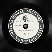 Day 166 International Military Tribunal, Nuremberg (Set A)  Click to enlarge
