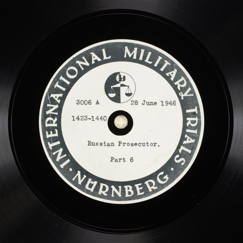 Day 166 International Military Tribunal, Nuremberg (Set A)