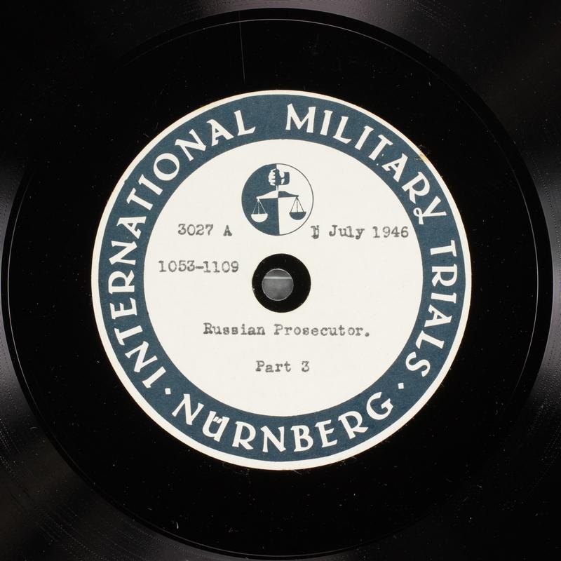 Day 168 International Military Tribunal, Nuremberg (Set A)