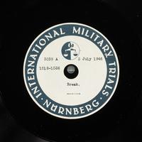 Day 169 International Military Tribunal, Nuremberg (Set A)  Click to enlarge