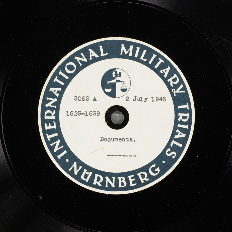 Day 169 International Military Tribunal, Nuremberg (Set A)