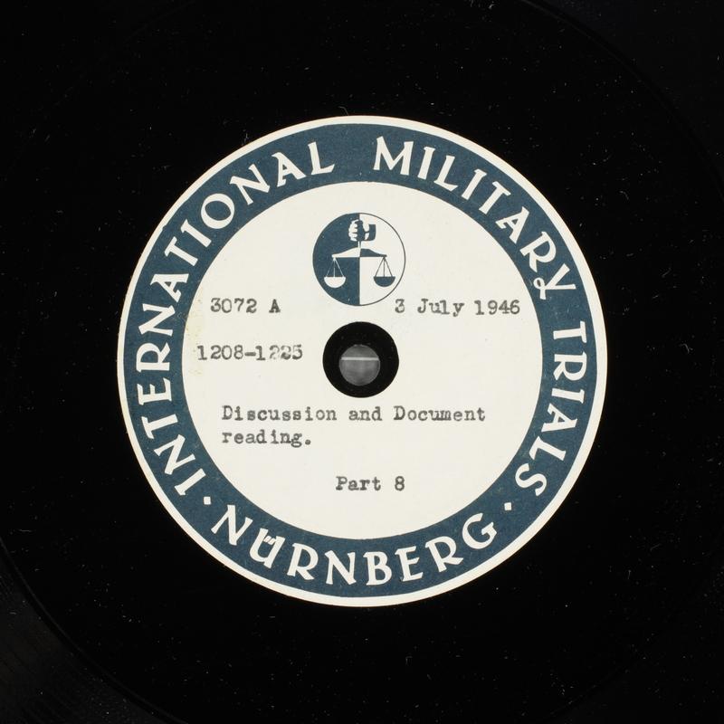 Day 170 International Military Tribunal, Nuremberg (Set A)