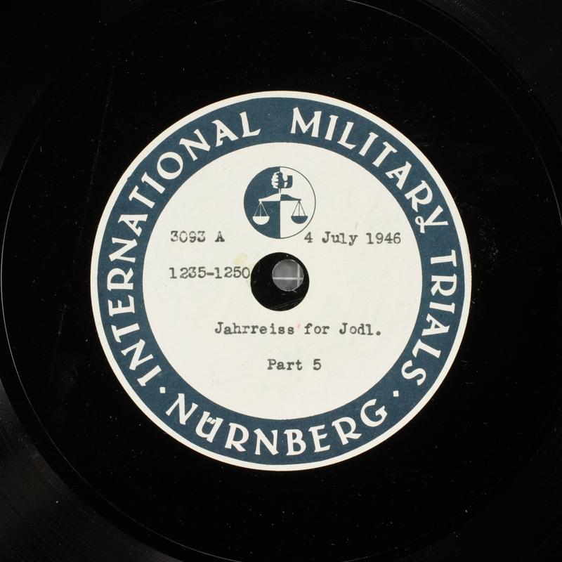 Day 171 International Military Tribunal, Nuremberg (Set A)