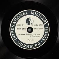 Day 172 International Military Tribunal, Nuremberg (Set A)  Click to enlarge
