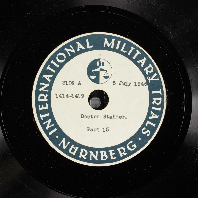 Day 172 International Military Tribunal, Nuremberg (Set A)