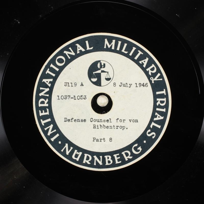 Day 173 International Military Tribunal, Nuremberg (Set A)