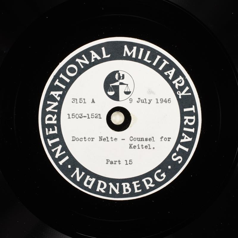 Day 174 International Military Tribunal, Nuremberg (Set A)