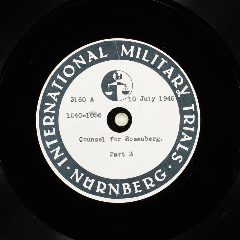 Day 175 International Military Tribunal, Nuremberg (Set A)