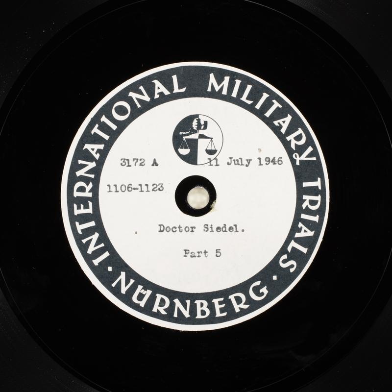 Day 176 International Military Tribunal, Nuremberg (Set A)