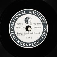 Day 176 International Military Tribunal, Nuremberg (Set A)  Click to enlarge