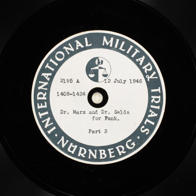 Day 177 International Military Tribunal, Nuremberg (Set A)