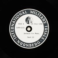Day 178 International Military Tribunal, Nuremberg (Set A)  Click to enlarge