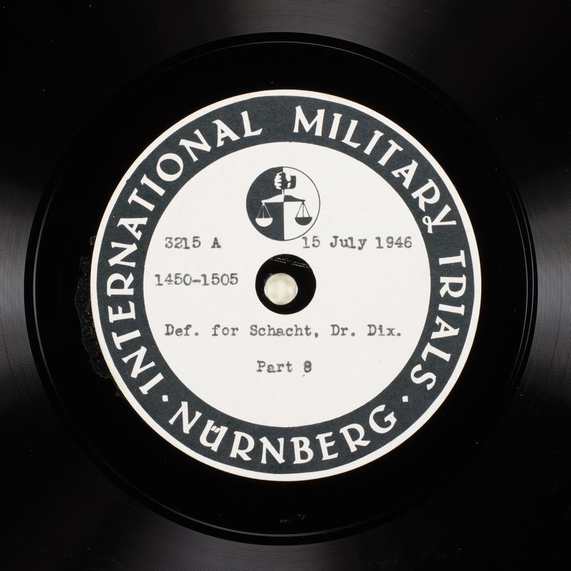 Day 178 International Military Tribunal, Nuremberg (Set A)