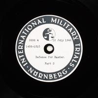 Day 179 International Military Tribunal, Nuremberg (Set A)  Click to enlarge