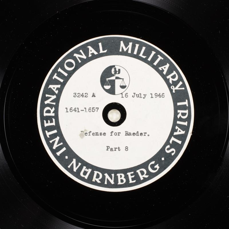 Day 179 International Military Tribunal, Nuremberg (Set A)