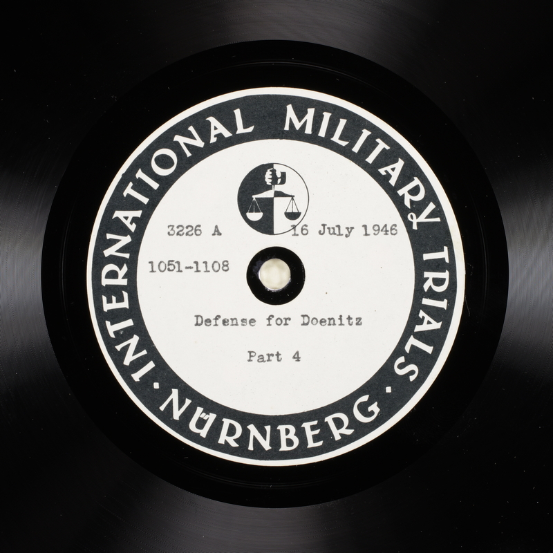 Day 179 International Military Tribunal, Nuremberg (Set A)