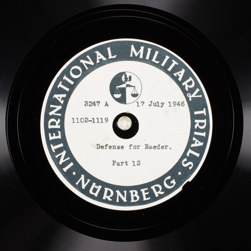 Day 180 International Military Tribunal, Nuremberg (Set A)