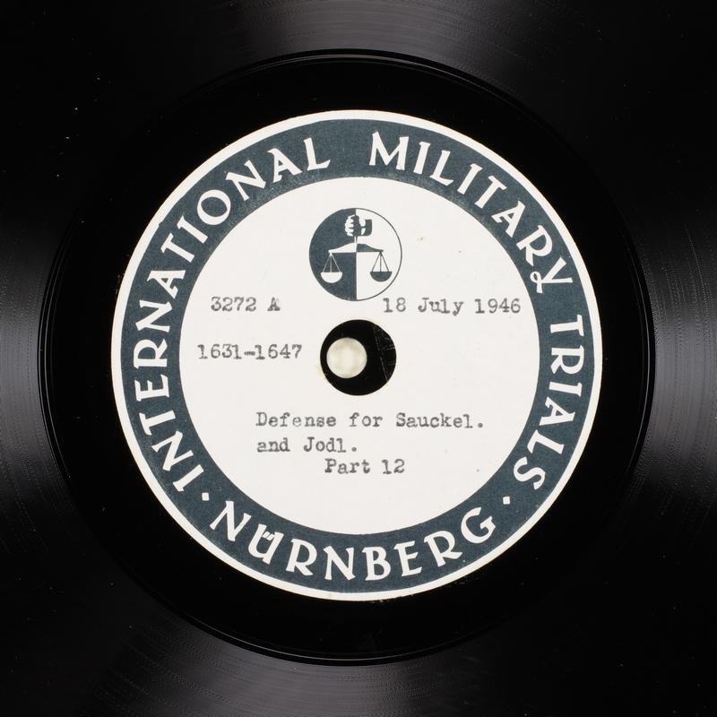 Day 181 International Military Tribunal, Nuremberg (Set A)