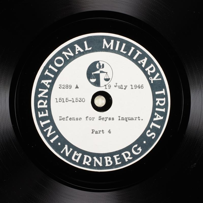 Day 182 International Military Tribunal, Nuremberg (Set A)