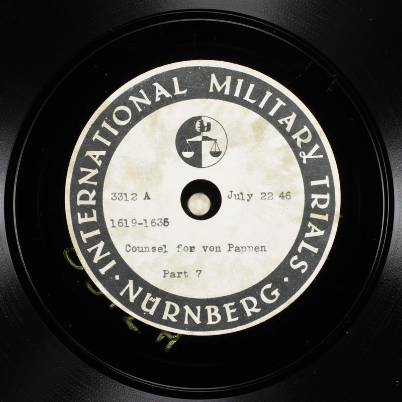 Day 183 International Military Tribunal, Nuremberg (Set A)