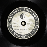 Day 183 International Military Tribunal, Nuremberg (Set A)  Click to enlarge