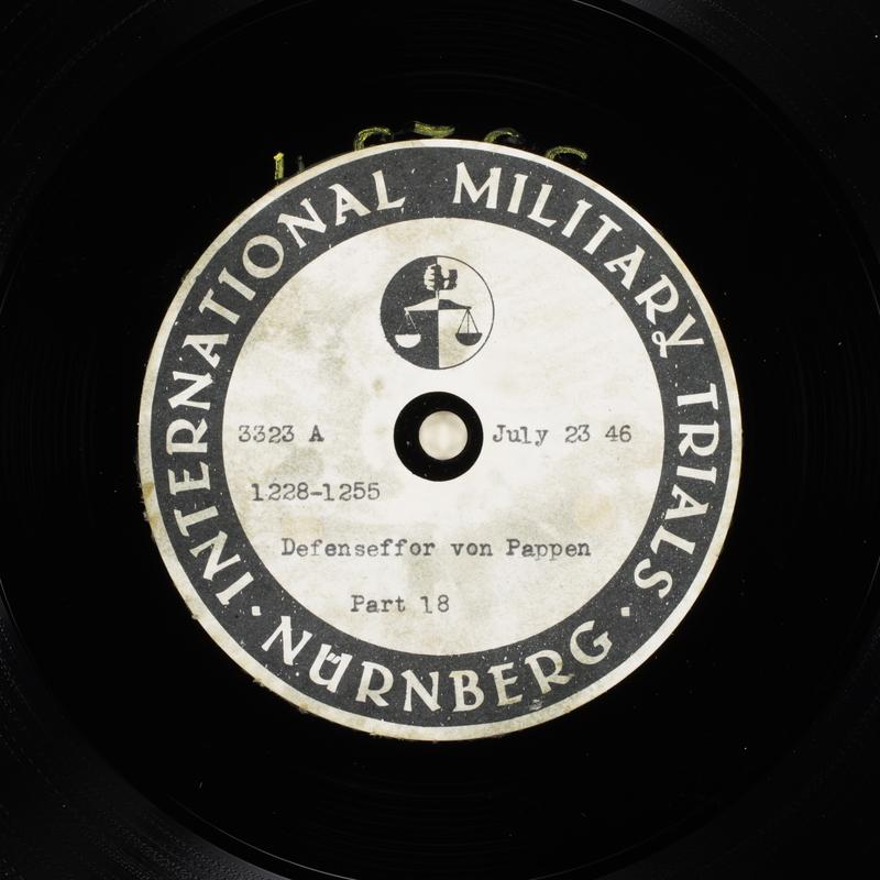 Day 184 International Military Tribunal, Nuremberg (Set A)