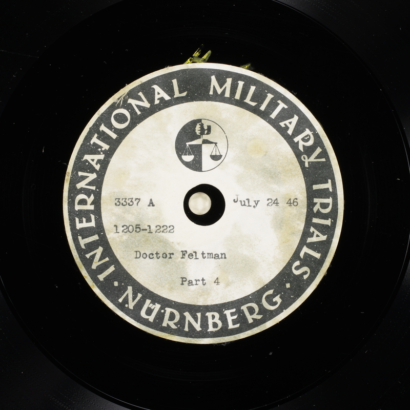 Day 185 International Military Tribunal, Nuremberg (Set A)