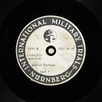 Day 185 International Military Tribunal, Nuremberg (Set A)  Click to enlarge