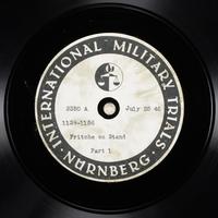 Day 186 International Military Tribunal, Nuremberg (Set A)  Click to enlarge
