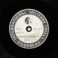 Day 187 International Military Tribunal, Nuremberg (Set A)  Click to enlarge