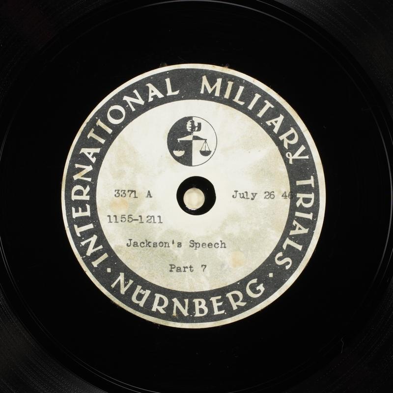 Day 187 International Military Tribunal, Nuremberg (Set A)