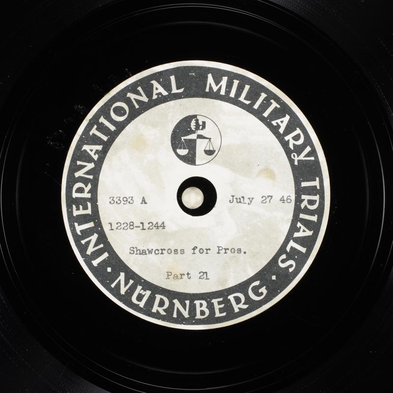 Day 188 International Military Tribunal, Nuremberg (Set A)