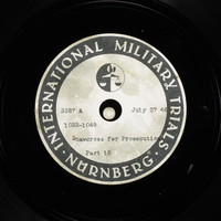 Day 188 International Military Tribunal, Nuremberg (Set A)  Click to enlarge
