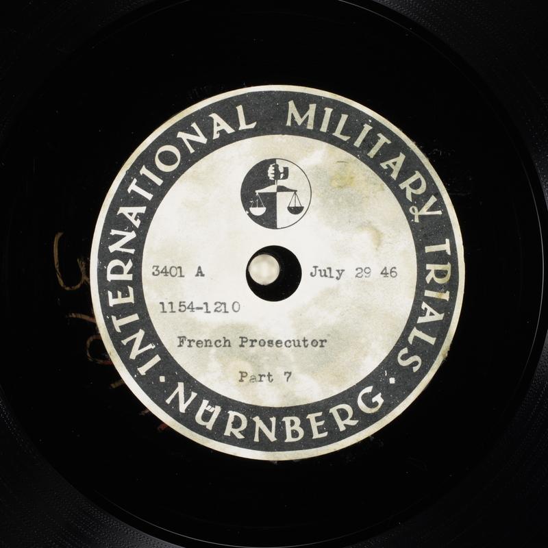Day 189 International Military Tribunal, Nuremberg (Set A)