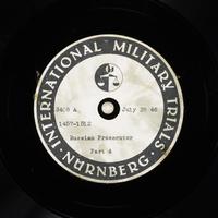 Day 189 International Military Tribunal, Nuremberg (Set A)  Click to enlarge