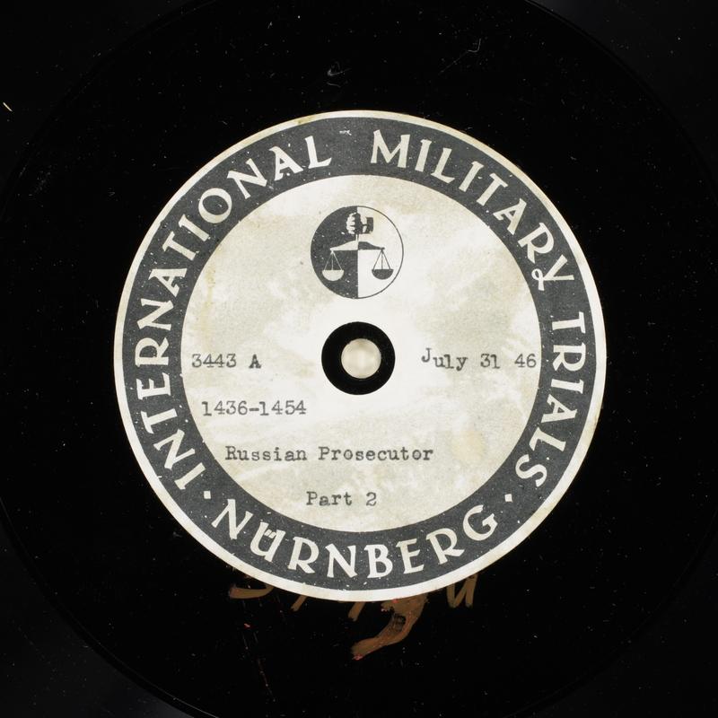 Day 191 International Military Tribunal, Nuremberg (Set A)