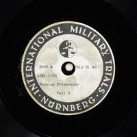 Day 191 International Military Tribunal, Nuremberg (Set A)  Click to enlarge