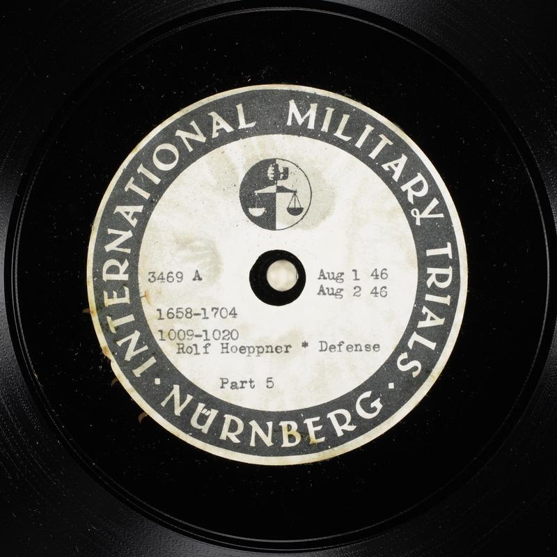 Day 192 International Military Tribunal, Nuremberg (Set A)
