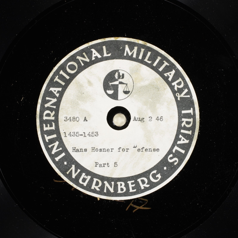 Day 193 International Military Tribunal, Nuremberg (Set A)