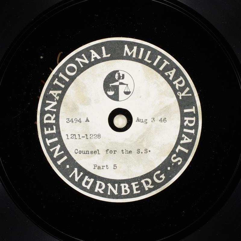 Day 194 International Military Tribunal, Nuremberg (Set A)