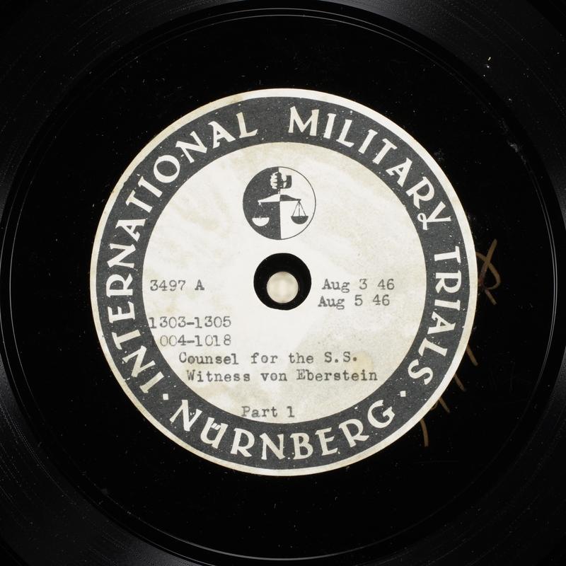 Day 195 International Military Tribunal, Nuremberg (Set A)