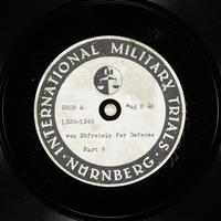 Day 195 International Military Tribunal, Nuremberg (Set A)  Click to enlarge