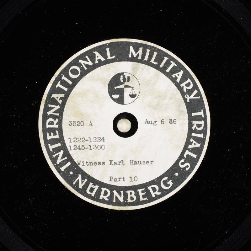 Day 196 International Military Tribunal, Nuremberg (Set A)