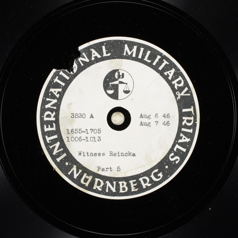 Day 197 International Military Tribunal, Nuremberg (Set A)