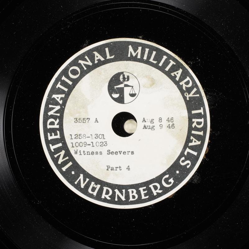 Day 198 International Military Tribunal, Nuremberg (Set A)