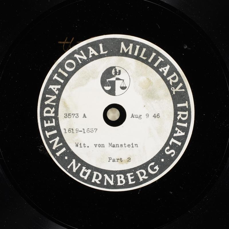 Day 199 International Military Tribunal, Nuremberg (Set A)